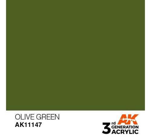 AK INTERACTIVE (AKI) 11147 AK Interactive 3rd Gen Acrylic Olive Green 17ml