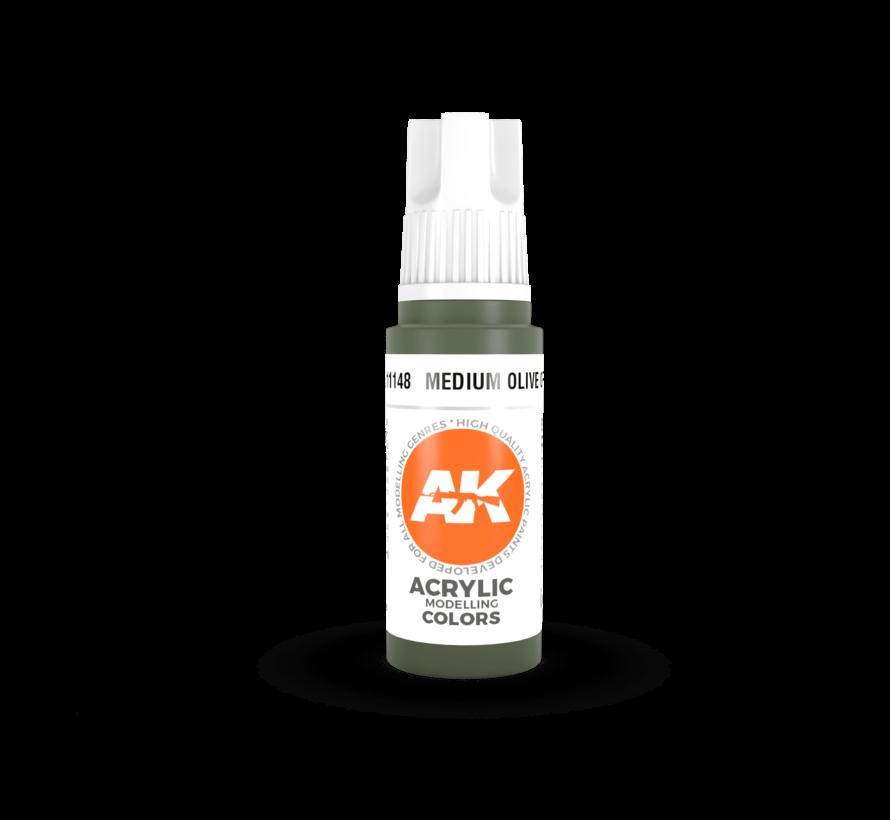 11148 AK Interactive 3rd Gen Acrylic Medium Olive Green 17ml
