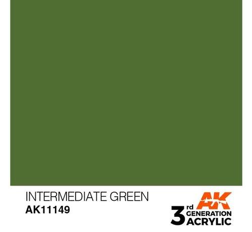AK INTERACTIVE (AKI) 11149 AK Interactive 3rd Gen Acrylic Intermediate Green 17ml