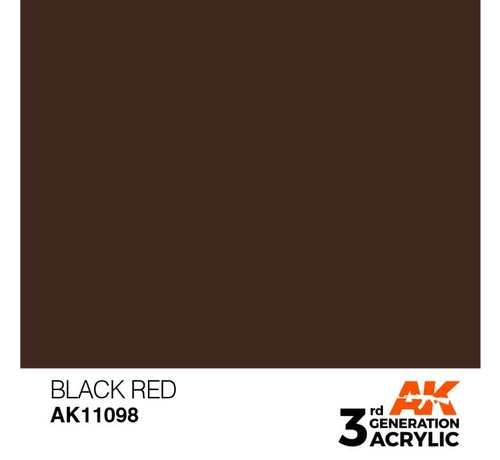 AK INTERACTIVE (AKI) 11098 AK Interactive 3rd Gen Acrylic Black Red 17ml