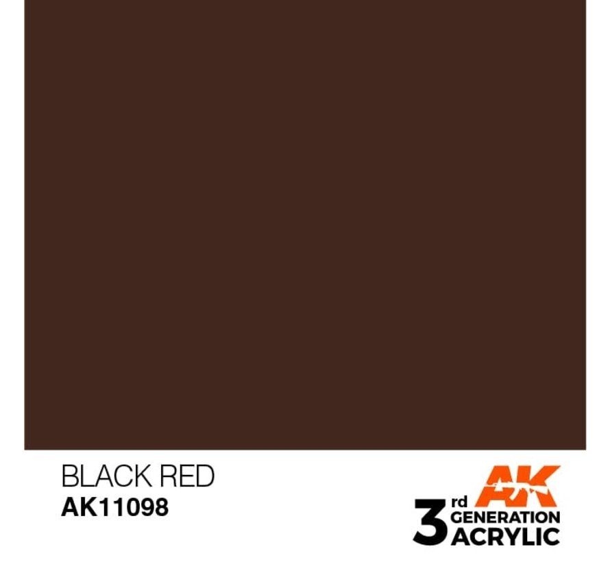 11098 AK Interactive 3rd Gen Acrylic Black Red 17ml