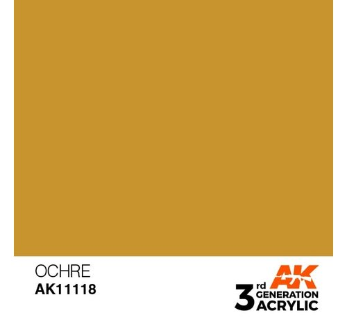 AK INTERACTIVE (AKI) 11118 AK Interactive 3rd Gen Acrylic Ocher 17ml