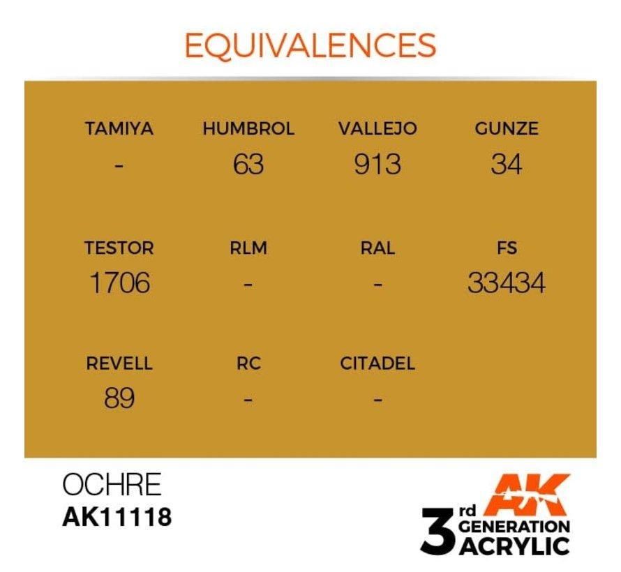 11118 AK Interactive 3rd Gen Acrylic Ocher 17ml