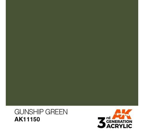 AK INTERACTIVE (AKI) 11150 AK Interactive 3rd Gen Acrylic Gunship Green 17ml