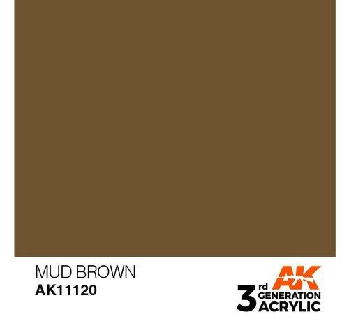AK INTERACTIVE (AKI) 11120 AK Interactive 3rd Gen Acrylic Mud Brown 17ml