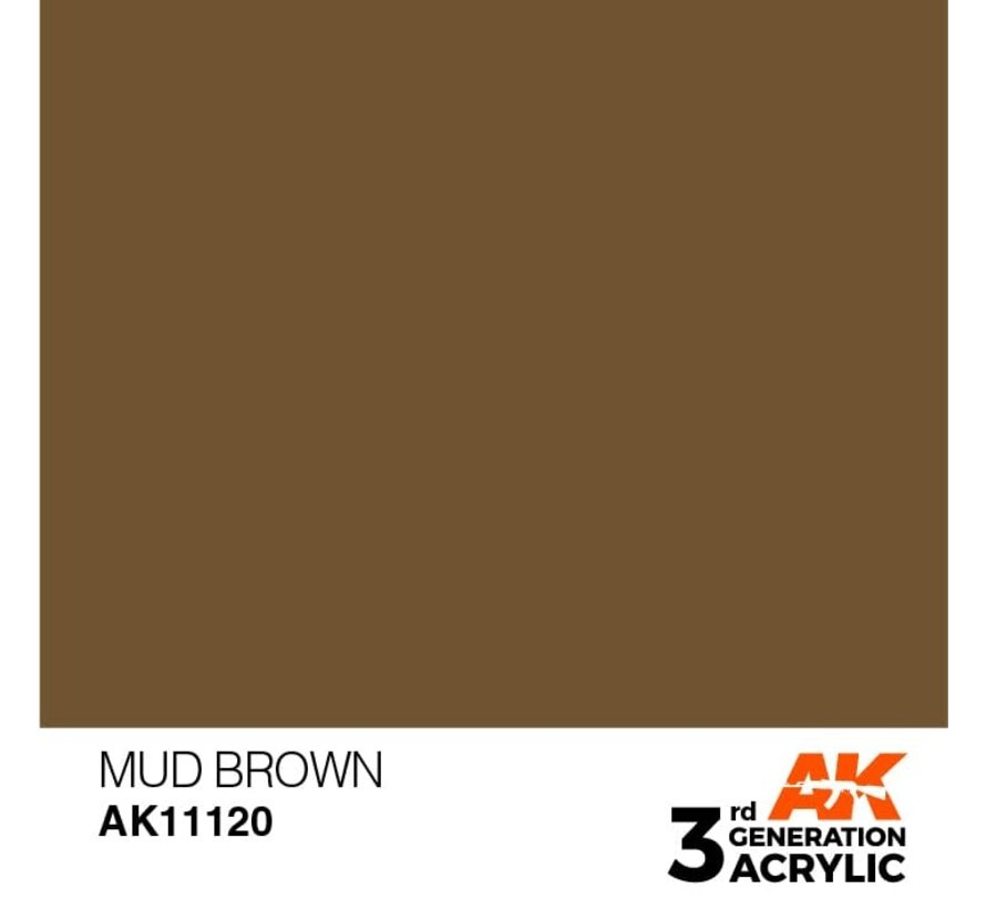 11120 AK Interactive 3rd Gen Acrylic Mud Brown 17ml