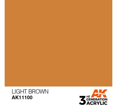 AK INTERACTIVE (AKI) 11100 AK Interactive 3rd Gen Acrylic Light Brown 17ml