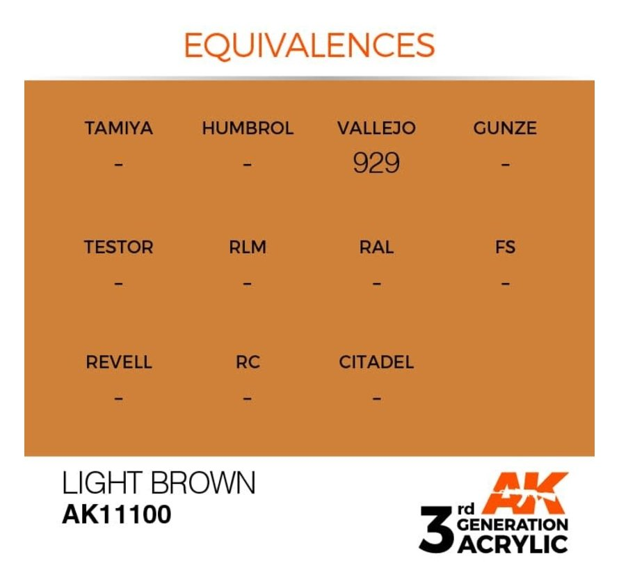 11100 AK Interactive 3rd Gen Acrylic Light Brown 17ml