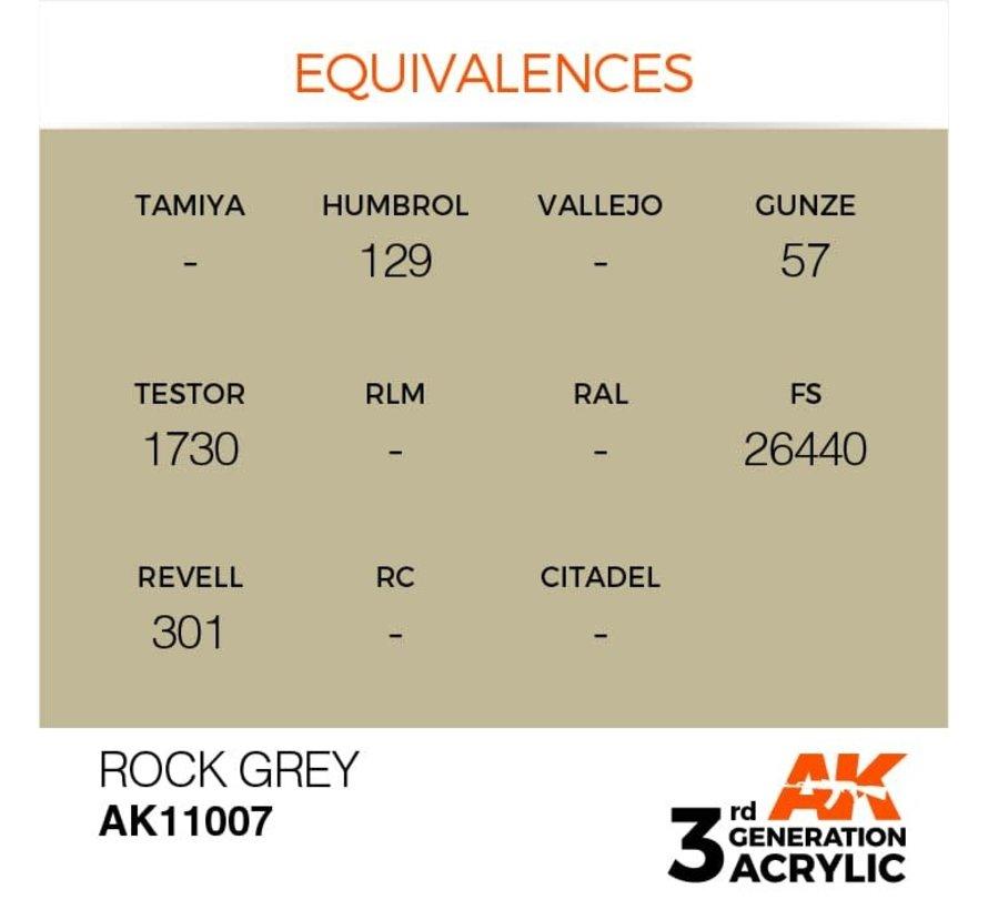 11007 AK Interactive 3rd Gen Acrylic Rock Grey 17ml