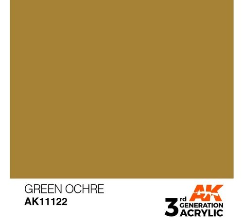 AK INTERACTIVE (AKI) 11122 AK Interactive 3rd Gen Acrylic Green Ochre 17ml