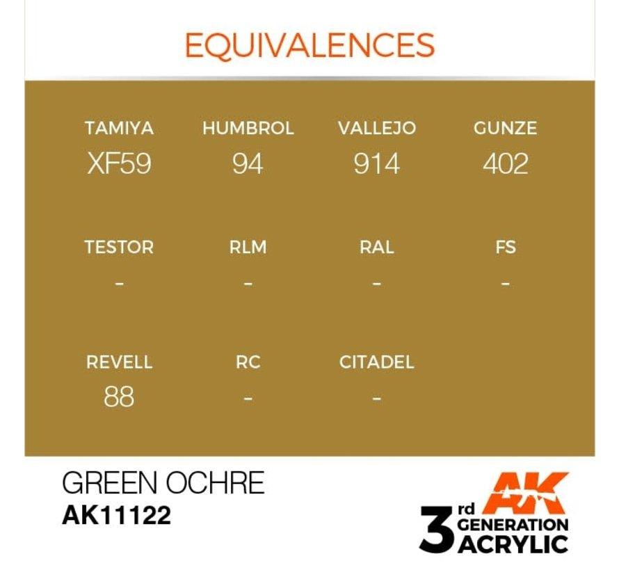 11122 AK Interactive 3rd Gen Acrylic Green Ochre 17ml