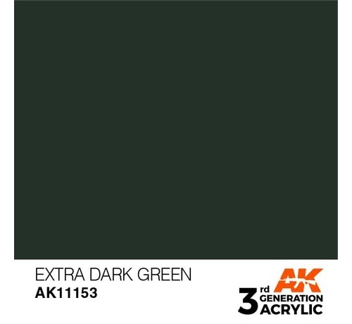AK INTERACTIVE (AKI) 11153 AK Interactive 3rd Gen Acrylic Extra Dark Green 17ml