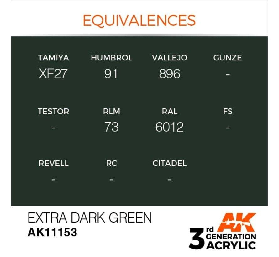 11153 AK Interactive 3rd Gen Acrylic Extra Dark Green 17ml