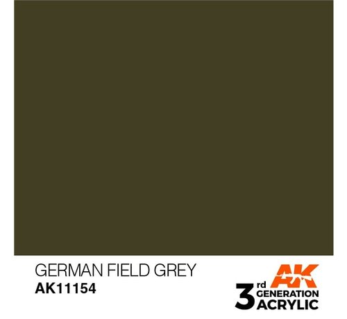 AK INTERACTIVE (AKI) 11154 AK Interactive 3rd Gen Acrylic German Field Grey 17ml
