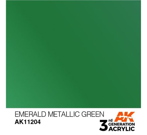 AK INTERACTIVE (AKI) 11204 AK Interactive 3rd Gen Acrylic Emerald Metallic Green 17ml