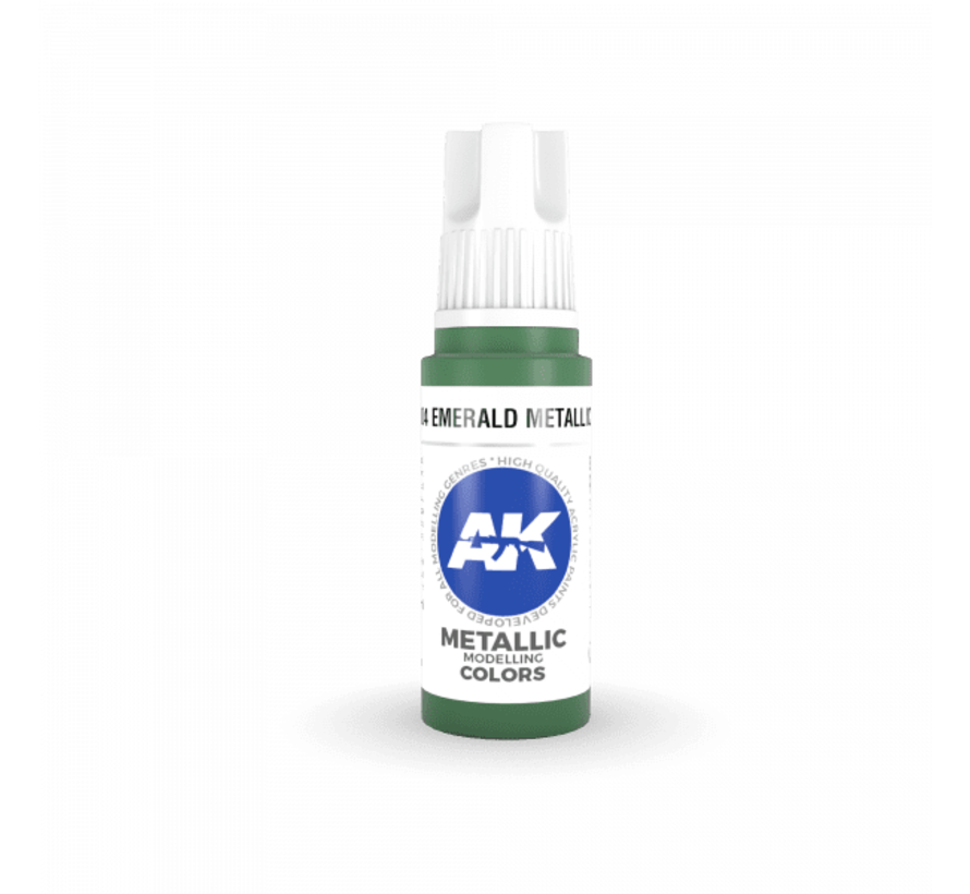 11204 AK Interactive 3rd Gen Acrylic Emerald Metallic Green 17ml