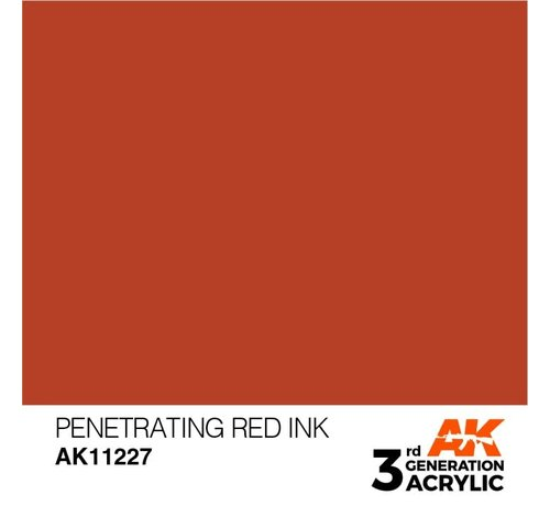 AK INTERACTIVE (AKI) 11227 AK Interactive 3rd Gen Acrylic Penetrating Red INK 17ml