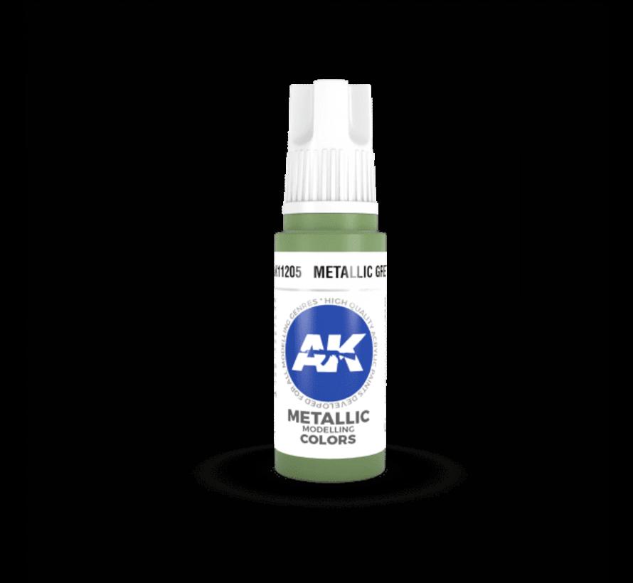 11205 AK Interactive 3rd Gen Acrylic Metallic Green 17ml