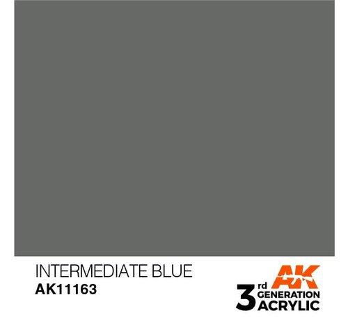 AK INTERACTIVE (AKI) 11163 AK Interactive 3rd Gen Acrylic Intermediate Blue 17ml
