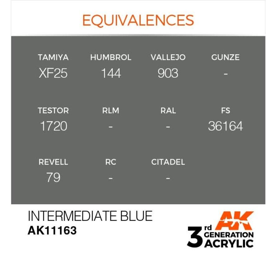 11163 AK Interactive 3rd Gen Acrylic Intermediate Blue 17ml