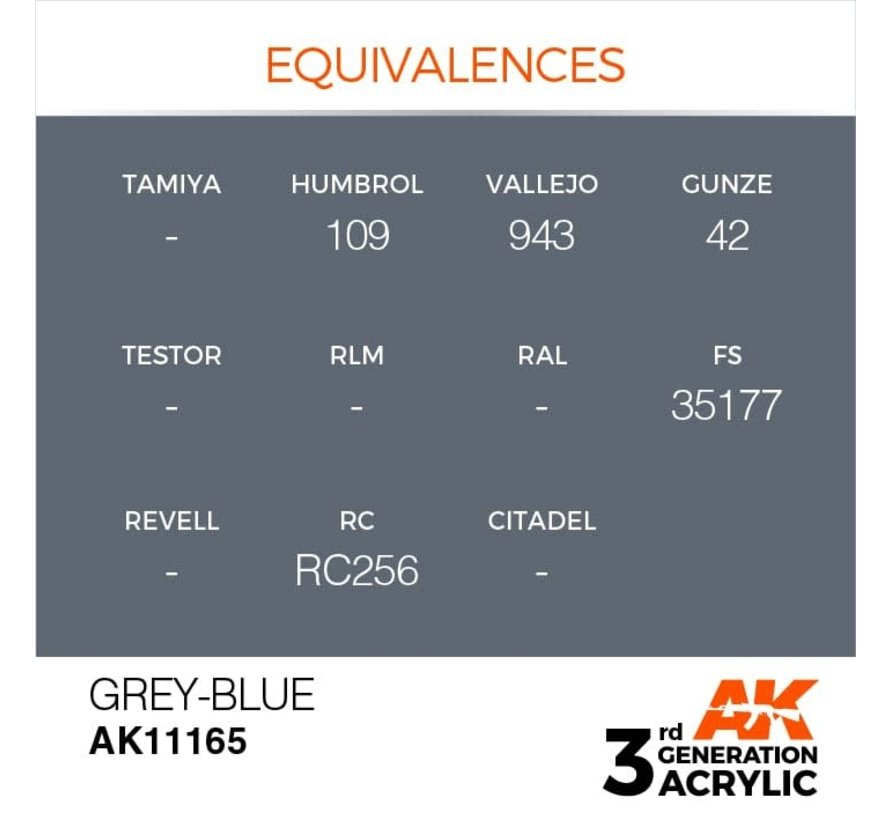 11165 AK Interactive 3rd Gen Acrylic Grey-Blue 17ml