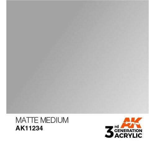 AK INTERACTIVE (AKI) 11234 AK Interactive 3rd Gen Acrylic Matte Medium 17ml
