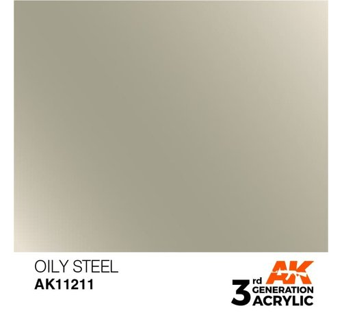 AK INTERACTIVE (AKI) 11211 AK Interactive 3rd Gen Acrylic Oily Steel 17ml
