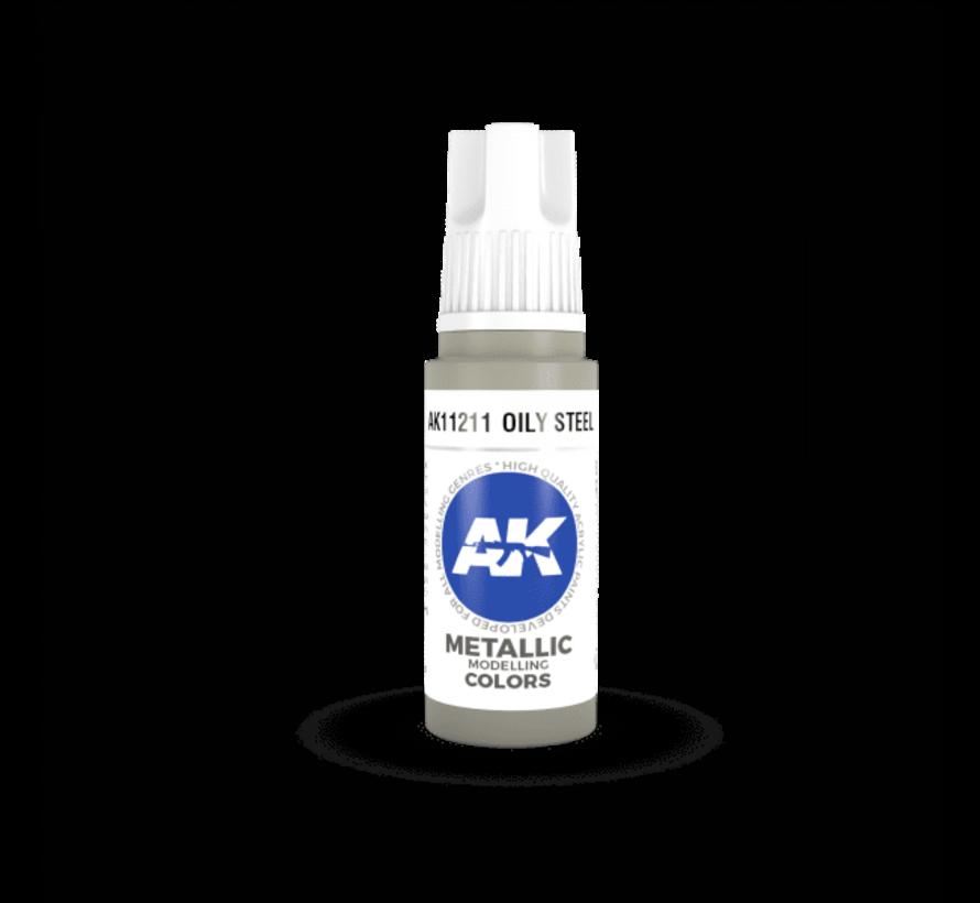 11211 AK Interactive 3rd Gen Acrylic Oily Steel 17ml