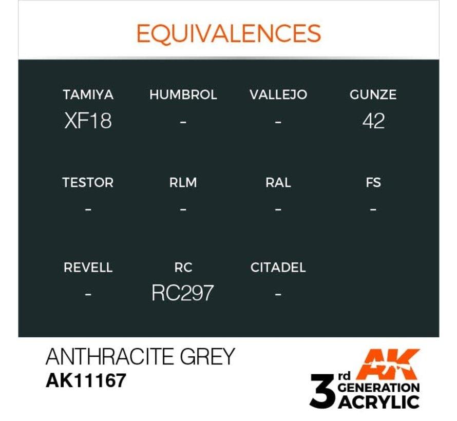 11167 AK Interactive 3rd Gen Acrylic Anthracite Grey 17ml