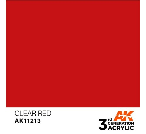 AK INTERACTIVE (AKI) 11213 AK Interactive 3rd Gen Clear Red 17ml