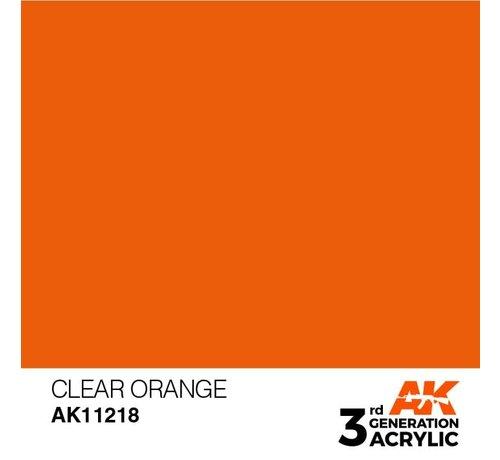 AK INTERACTIVE (AKI) 11218 AK Interactive 3rd Gen Clear Orange 17ml