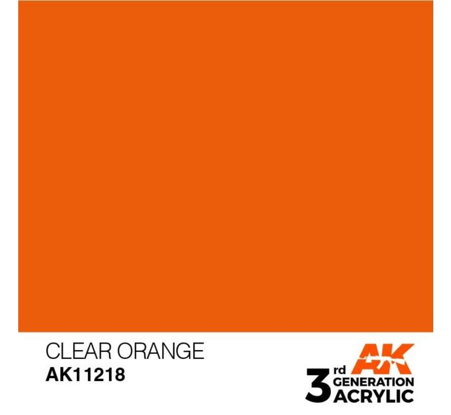 11218 AK Interactive 3rd Gen Clear Orange 17ml