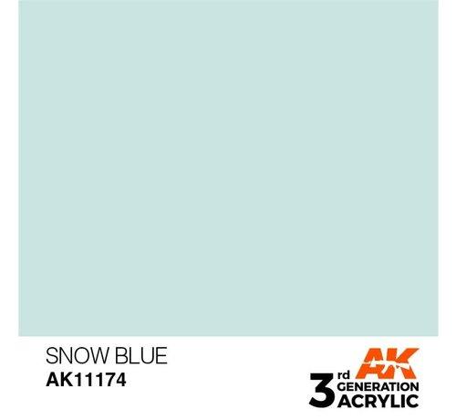 AK INTERACTIVE (AKI) 11174 AK Interactive 3rd Gen Acrylic Snow Blue 17ml