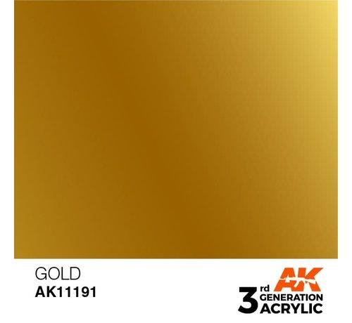 AK INTERACTIVE (AKI) 11191 Gold 3rd Gen Acrylic 17ml