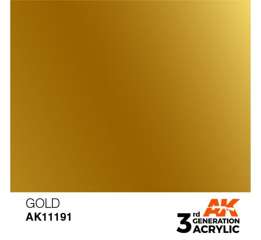 11191 Gold 3rd Gen Acrylic 17ml