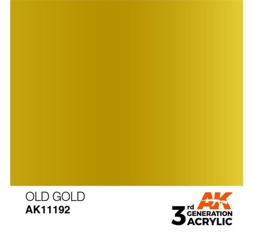 AK INTERACTIVE (AKI) 11192 Old Gold 3rd Gen Acrylic 17ml