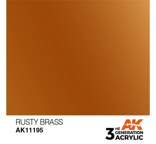 AK INTERACTIVE (AKI) 11195 Rusty Brass 3rd Gen Acrylic 17ml