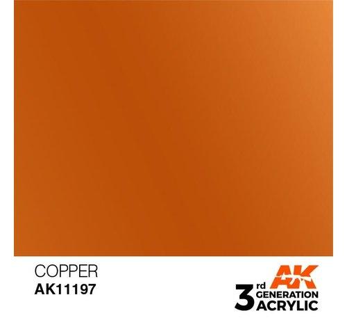 AK INTERACTIVE (AKI) 11197 Copper 3rd Gen Acrylic 17ml