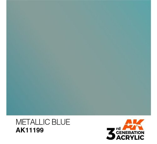 AK INTERACTIVE (AKI) 11199 Metallic Blue 3rd Gen Acrylic 17ml
