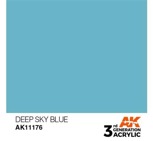 AK INTERACTIVE (AKI) 11176 Deep Blue 3rd Gen Acrylic 17ml