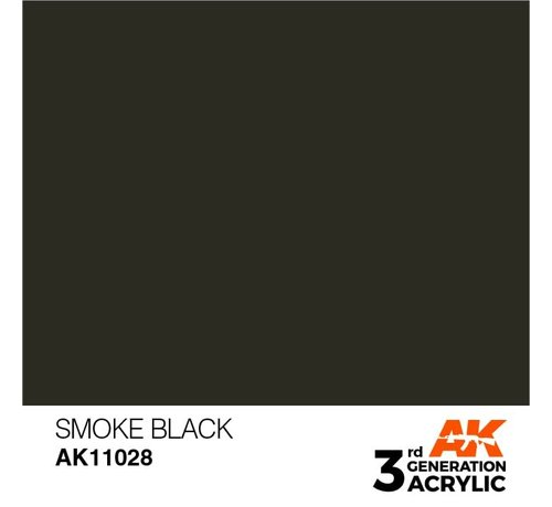 AK INTERACTIVE (AKI) 11028 AK Interactive 3rd Gen Acrylic Smoke Black 17ml