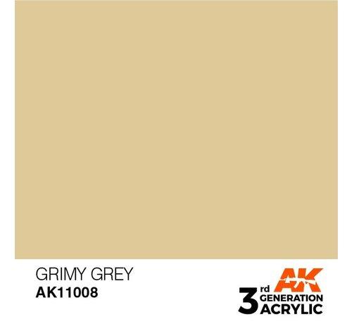 AK INTERACTIVE (AKI) 11008 AK Interactive 3rd Gen Acrylic Grimy Grey 17ml