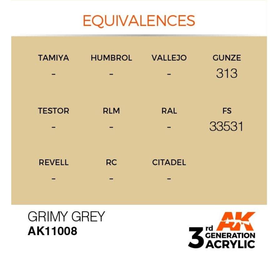 11008 AK Interactive 3rd Gen Acrylic Grimy Grey 17ml