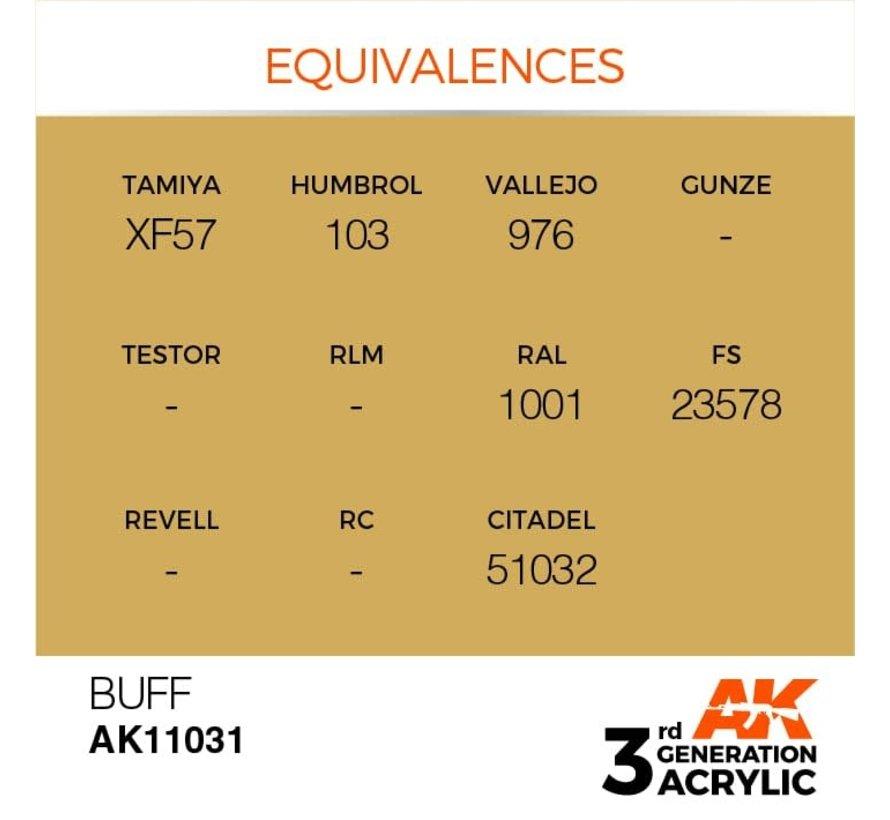 11031 AK Interactive 3rd Gen Acrylic Buff 17ml