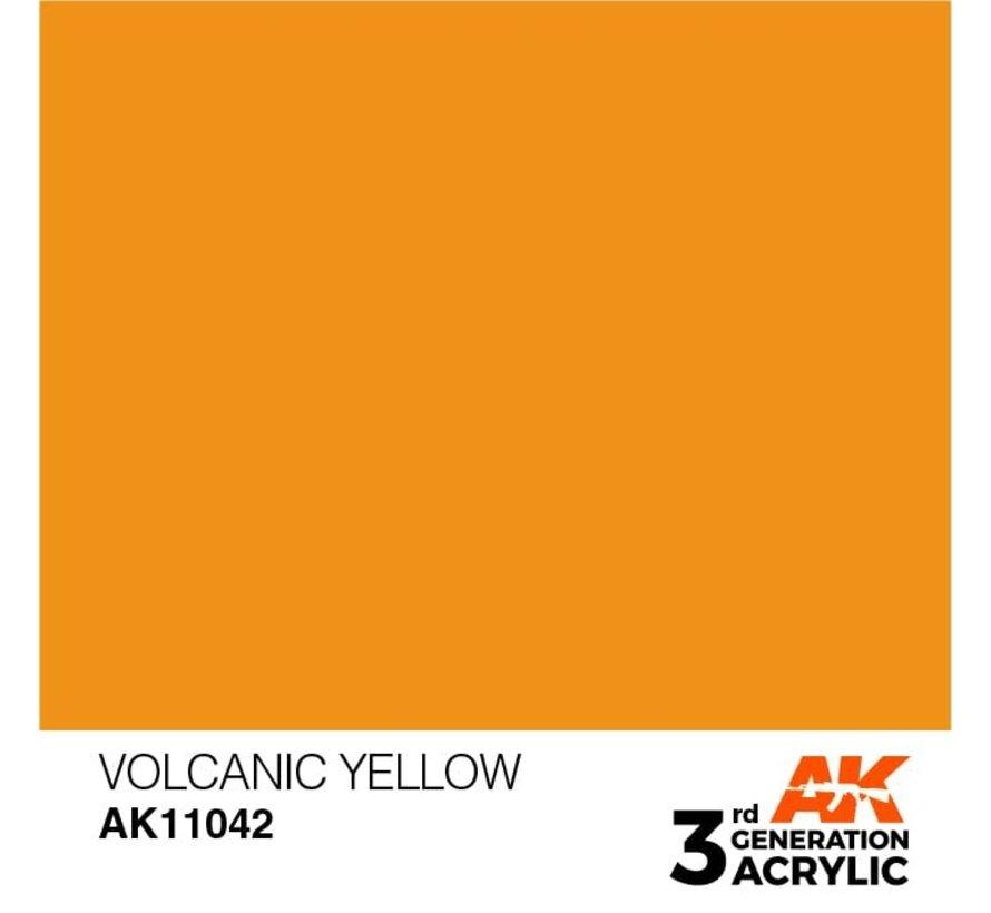 11042 AK Interactive 3rd Gen Acrylic Volcanic Yellow 17ml
