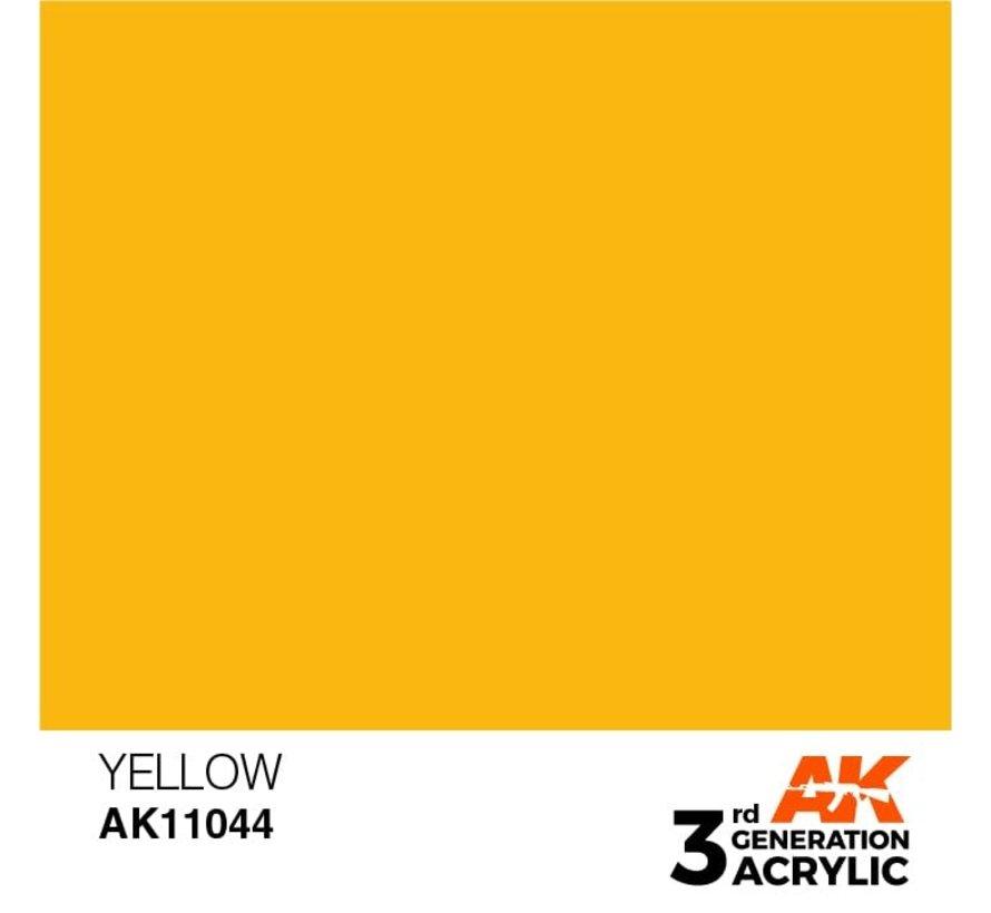 11044 AK Interactive 3rd Gen Acrylic Yellow 17ml