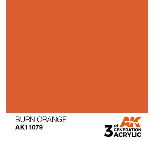 AK INTERACTIVE (AKI) 11079 AK Interactive 3rd Gen Acrylic Burn Orange 17ml