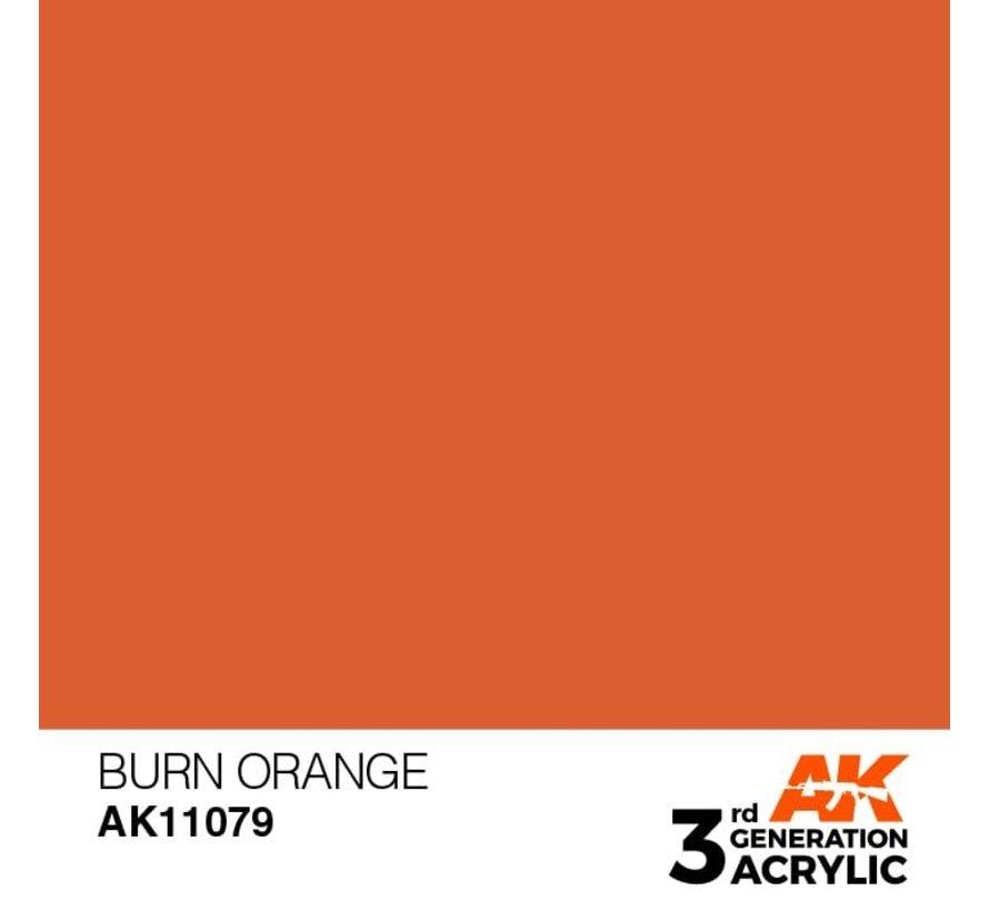 11079 AK Interactive 3rd Gen Acrylic Burn Orange 17ml