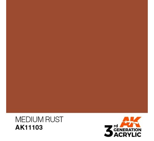 AK INTERACTIVE (AKI) 11103 AK Interactive 3rd Gen Acrylic Medium Rust 17ml