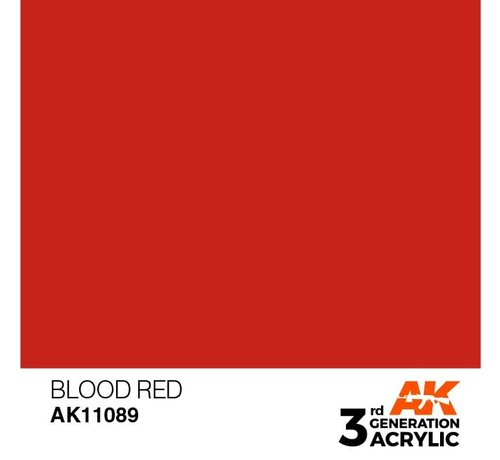 AK INTERACTIVE (AKI) 11089 AK Interactive 3rd Gen Acrylic Blood Red 17ml